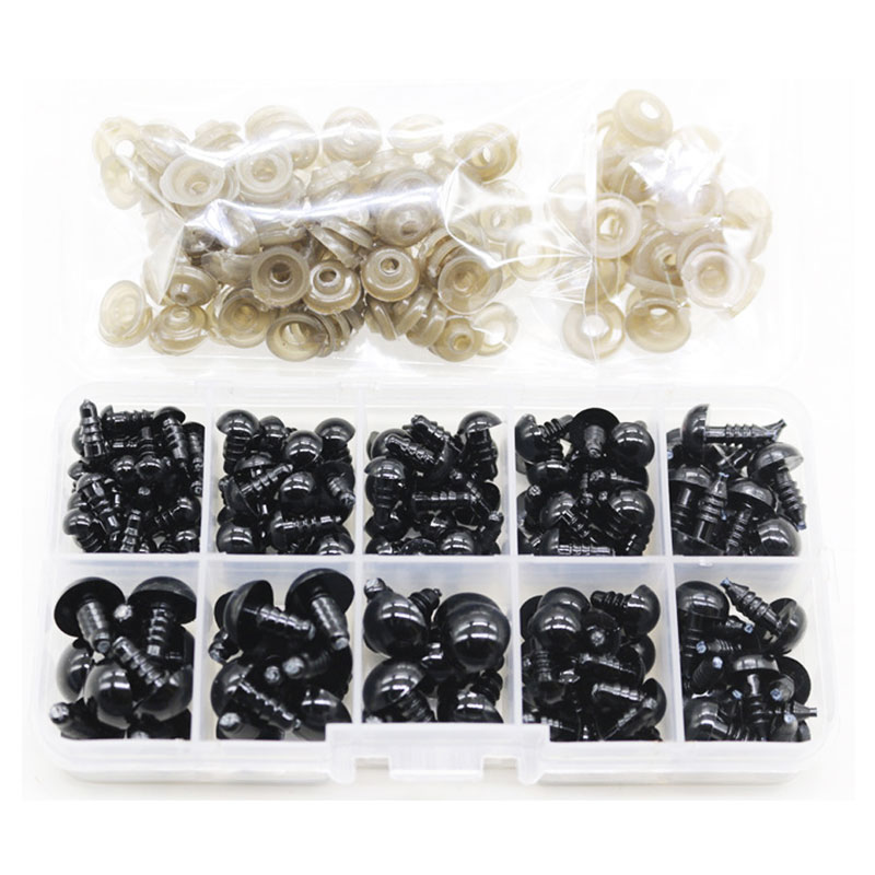 100Pcs/Set 6-12mm New Doll Google Eyes Plastic Safety Eye DIY For Teddy Bear Doll Animal Puppet Craft Toy Part Doll Accessories