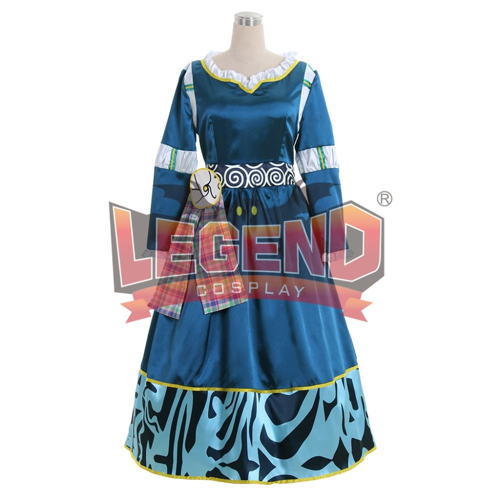 Princess Merida Adult Costume Brave Merida Cosplay Dress Film/Movie Party Halloween Costumes