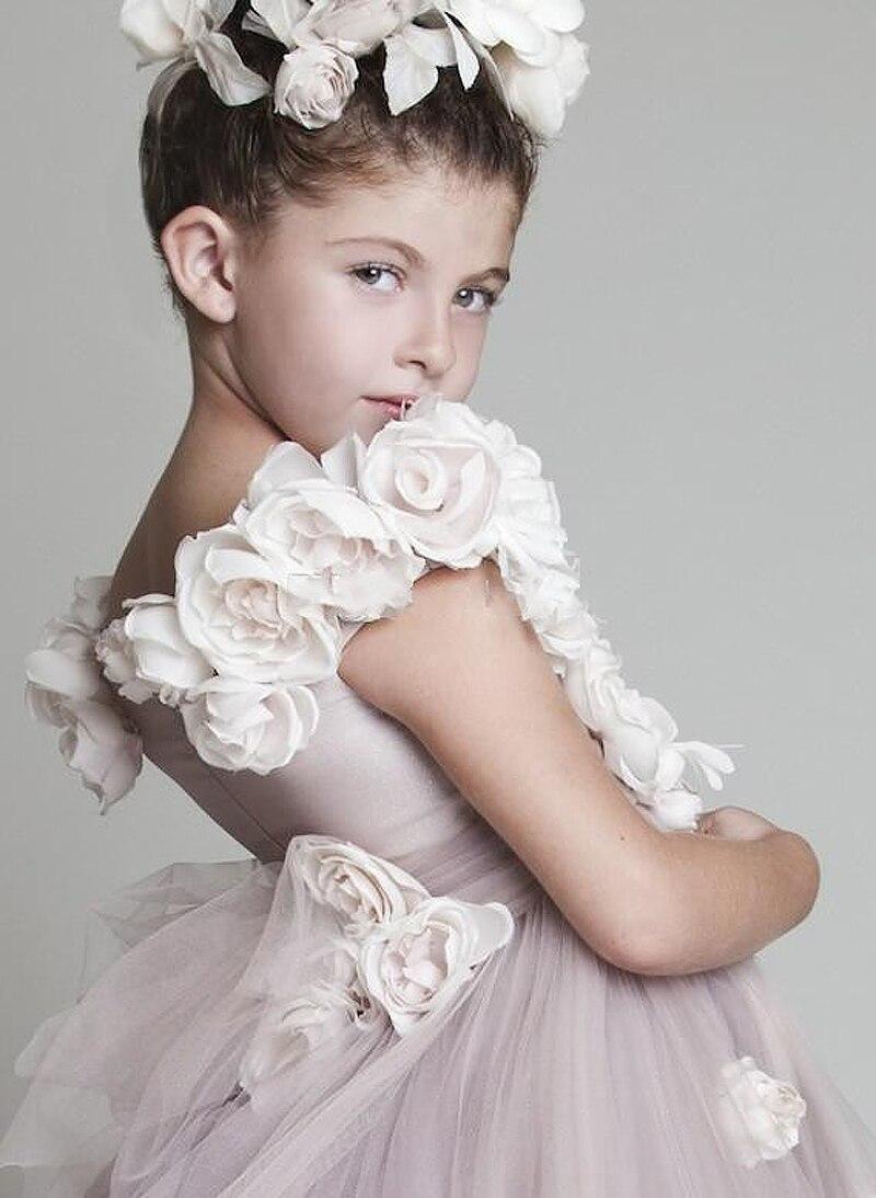 571f5715d Vestido Daminha Casamento 2015 Free Shipping Ball Gown Prom Dress Children Light  Purple Flower Girl Dresses with the Trains