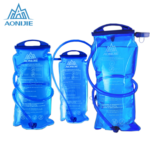 AONIJIE Water Bladder Soft Flask Hydration Bladder Hiking Travel Waterbag 1L 1.5L 2L 3L
