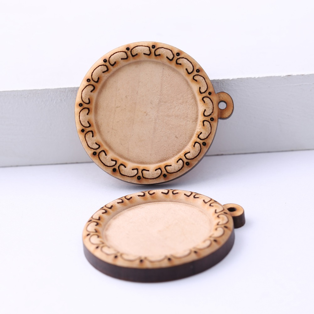 Dedicated 10-15pcs Diy Jewelry Making Wooden Earring Pendant Square Oval Triangle Charms Crafts
