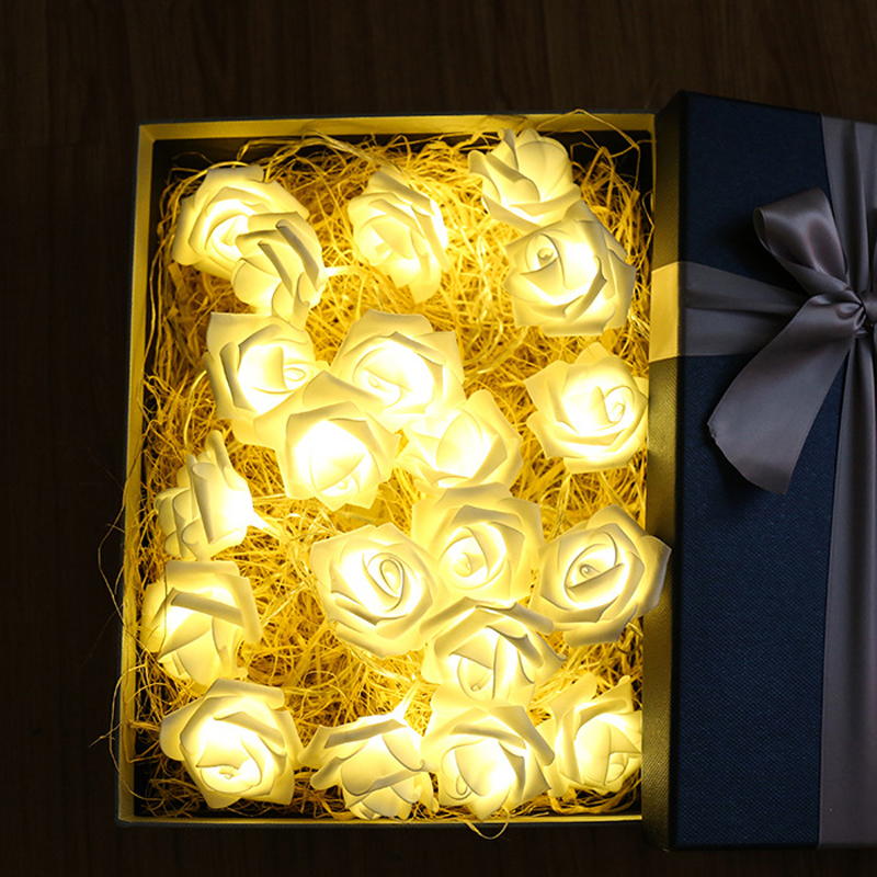 10 Led 20 Leds Romantic Rose Flower String Light For Holiday Wedding Xmas New Year Home Dedroom Table Decor AA Battery Garland (2)