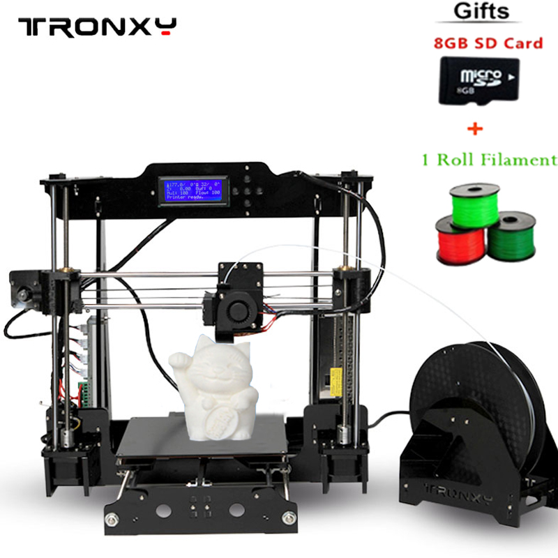 Tronxy support Auto leveling 3d printer Print Size 220*220*240mm Upgraded Quality High Precision 3D Printer Kits Acrylic Frame tronxy acrylic p802 mts 3d printer