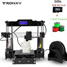 Tronxy Поддержка автоматического выравнивания 3D принтер для печати Размеры 220*220*240 мм повышен качество высокая точность 3D принтера Комплекты акриловая рамка