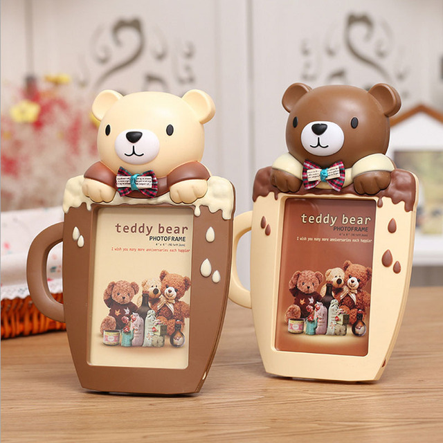 772a842e3658 2017 Hot Sale Cute Bear Baby Photo frame Baby Shower Gift Sweet Girl ...