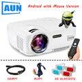 AUN Проектор AM01 Серии (Необязательно Классический/DVB-T/ATSC/Android), LED Проектор ТВ-Тюнер Бесплатный HDMI Кабель 3D Очки