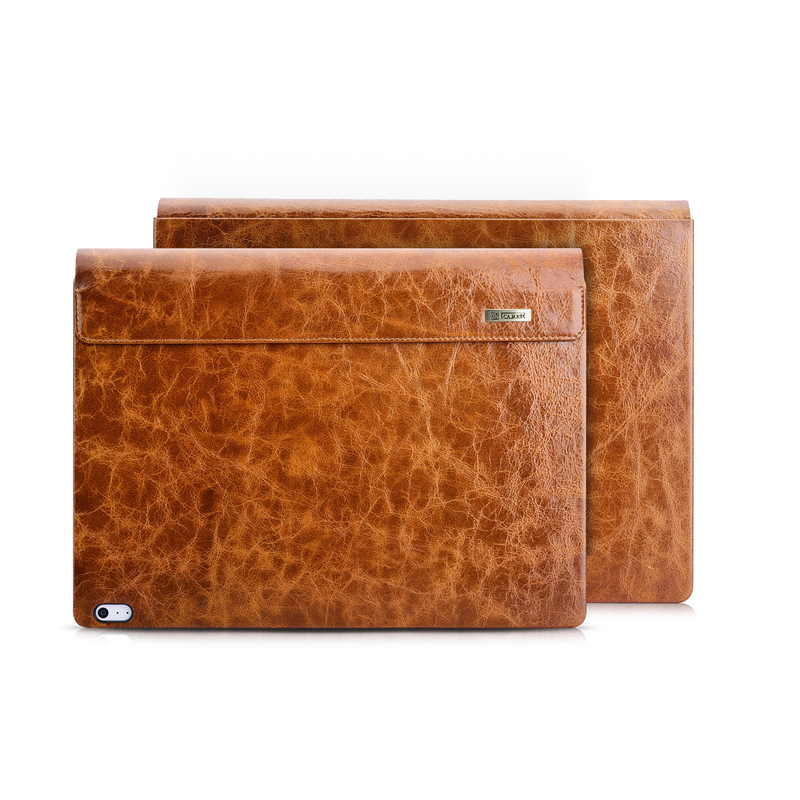 Oil Wax Vintage Cowhide Genuine Leather Case for Microsoft Surface Book 2 13.5 2018 Business Protective Stand Cover for Book 2 microsoft surface book