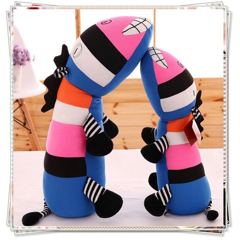 Miccidan Colorful Hippo Pillow Kawaii Plush Kids Toys Ty Animals Mattress Soft Cute