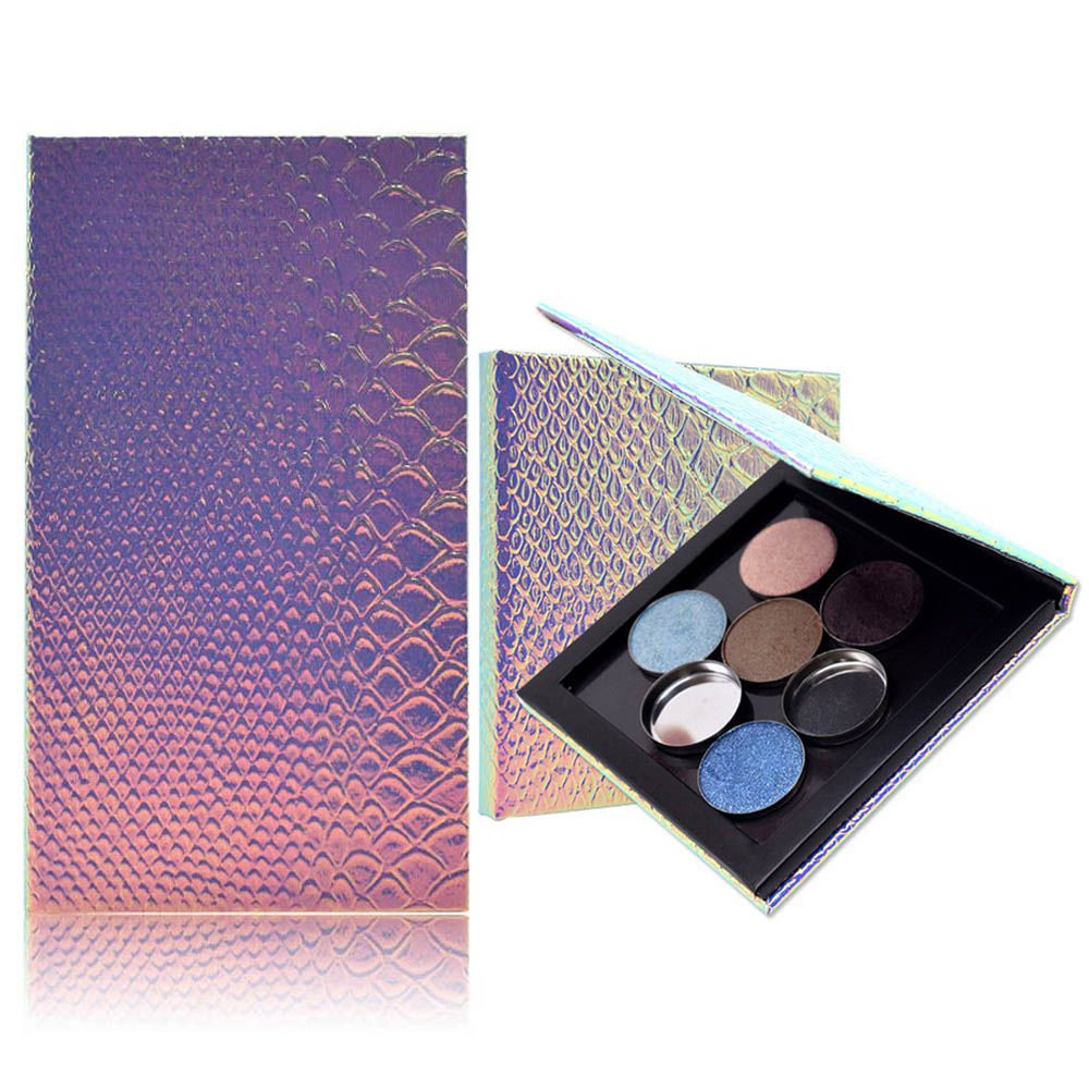 Fish-scale Empty Magnetic Eyeshadow Palette Case DIY Easy Carry Blusher Lipstick Lip Gloss Powder Refill Makeup Palette