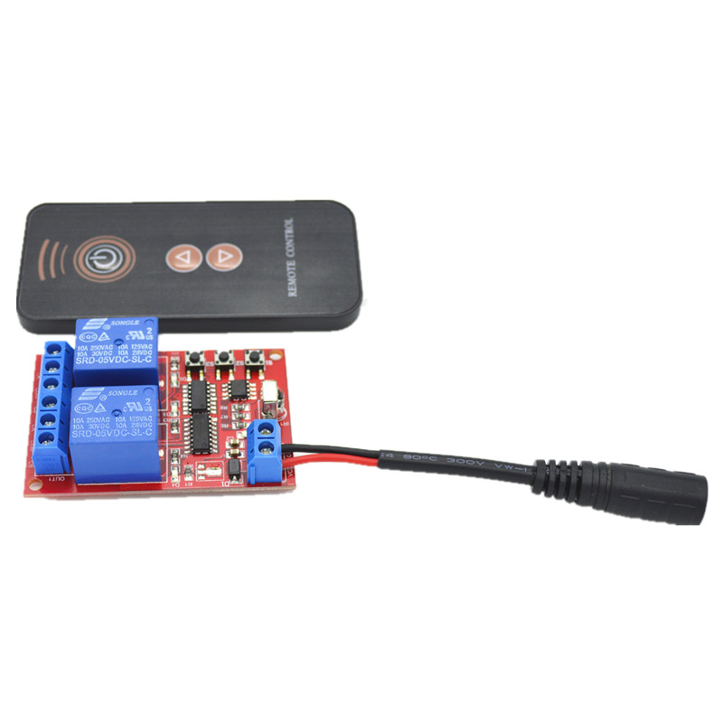 5V DC 2 Way Learning Remote Control Switch Module ,IR Controller, Female Plug DC Wire кардиган evans evans ev006ewxey75