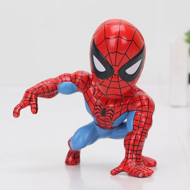 8 cm Superhero Spiderman homem-Aranha BobbleHead Figura Coleção Ação PVC Modelo Toy Dolls Presente