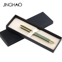 Hollow Out Clip Fashion Hot Green Brown Gel Pen Business Office Supplies Metal Sign Rollerball Pens