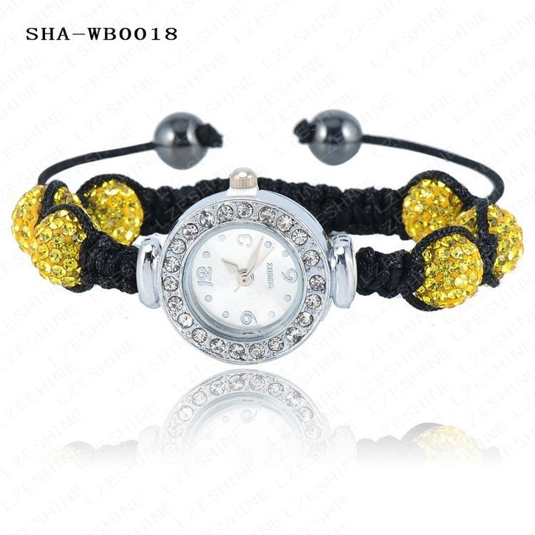оптовая продажа часы шамбалы браслеты и браслеты с 10 мм от AB клей дискотека хрустальный шар цветов смешивания опции ша-wbmix2