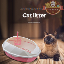 Cat Litter Pot Double-layer Semi-closed Splash High-end Cat Toilet Plastic Large Pet Cleaning Training Supplies Dog Accessories