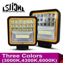 LSlight 작업 빛 Faros 4x4 액세서리 오프로드 LED 라이트 바 Worklight 오프로드 Barra LED 램프 252W 3000K 4300K 6000K UAZ 들어