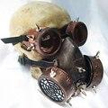 Retro Hombres Mujeres Steampunk Militar Gafas Gafas Respirador Máscara De Gas para Cosplay Gothic Punk Rock Accesorios Trajes de Época