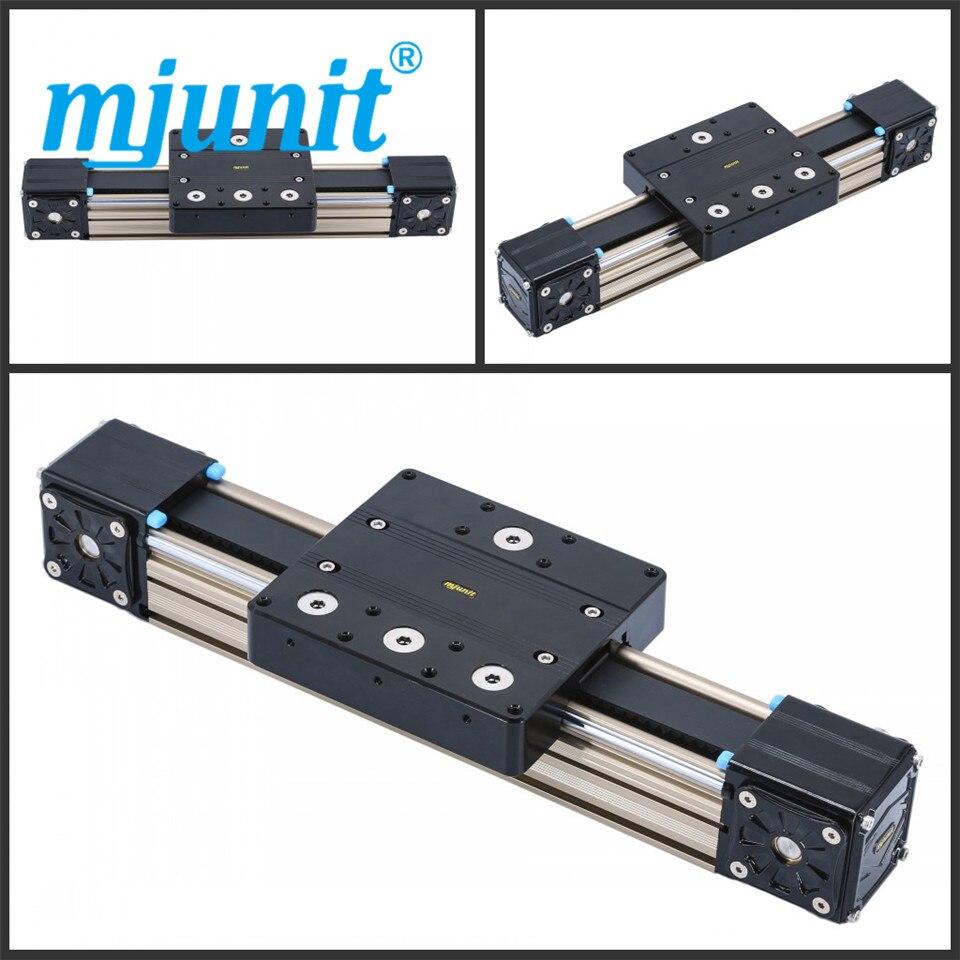mjunit MJ80 Linear Actuator Belt Drive linear guide rail with 2200mm stroke length mjunit mj60 mj45 xyz linear actuator belt drive unit linear rail with 600x400x400mm stroke length