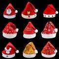 Christmas Hat Baby Kids Adult Party Celebration Santa Cap Hat Santa Claus Costume Snowman Snowflake Print Santa Cap Hat