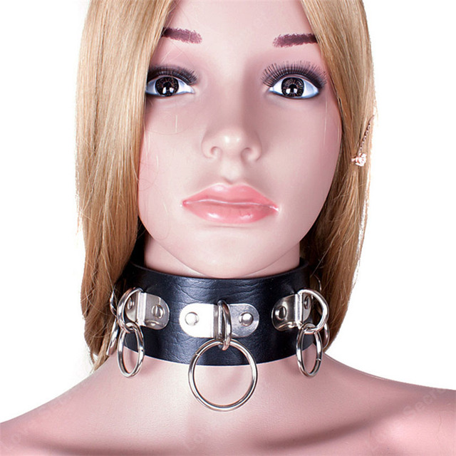 PU Leather Rivets Adult Slave Collar Black Sex Neck Ring for Women Men Couple Adults Game Toys Sex Products for Sex S&M Game