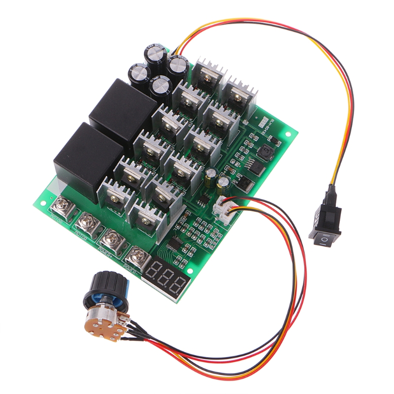 DC Motor Speed Controller Board Forward Reverse Switch Wireless Remote 12V//24V