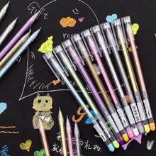 9pcs/Pack Kawaii Candy Color Multicolor Oil Graffiti Painting Pen Drawing Gel Pens Escolar School Stationery Papelaria