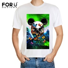 FORUDESIGNS 2016 Nouvelle Arrivée T shirt Hommes Casual Hip hop crâne Streetwear T-Shirt D'été Tee tops pp fitness marque clothing homme(China (Mainland))