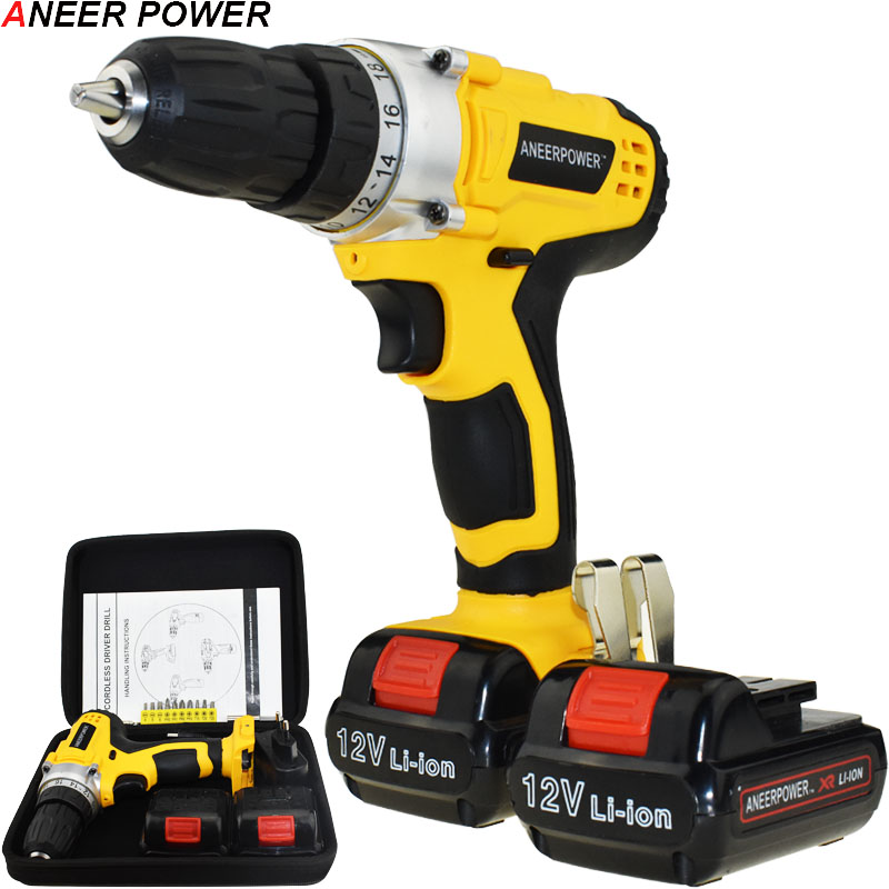 12v 1.5Ah Li-ion Battery Capacity Drill Power Tools Electric Drill Cordless Drill Electric Screwdriver Batteries Screwdriver 1 5ah battery capacity drill 12v mini cordless drill power tools electric screwdriver electric drill batteries screwdriver