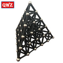QWZ Black White Magnet Bars & Metal Balls Magnetic Construction Creative Toys DIY Designer Educational Toy For Children Gifts(China)