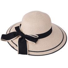 Ladies Hat Hand-woven Straw Hat Beach Sunscreen Wide Cap