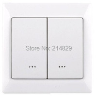 Smart Home 230V 868.42MHz Z WAVE Dual Wall dimmer switch TZ65D with dimming function