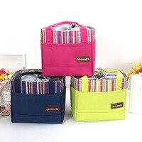 PACGOTH Handbags Multifunctions Oxford Fabric Waterproof Special Purpose Leisure Bags Stripe Pattern Unisex Drawstring Lunch Bag