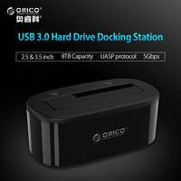 ORICO 6218US3 External HDD Docking Station 5Gbps USB 3 0 To SATA HDD Case Support UASP