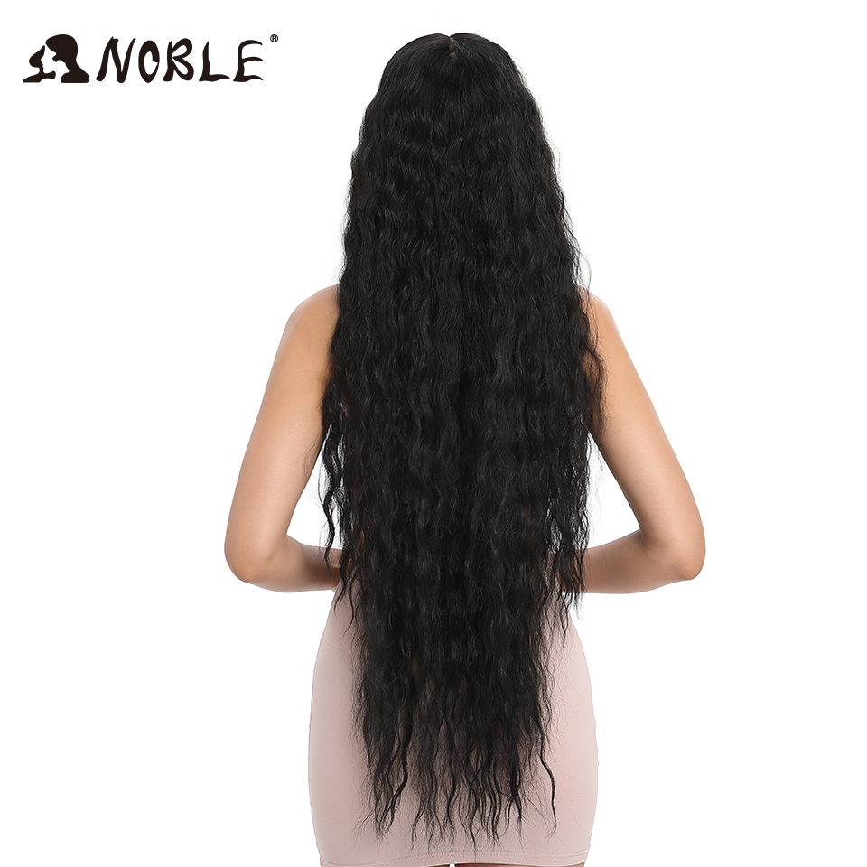 Noble Hair Synthetic Wigs For Black Women Long Curly Hair 42 Inch Cosplay Blonde Ombre Lace Front Wig Synthetic Lace Front Wig