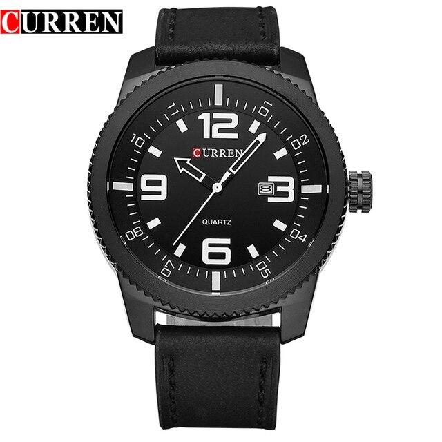 Curren Watches Men Luxury Wristwatch Male Clock Casual Fashion Business sports Wrist Watch Quartz Leather relogio masculino8180