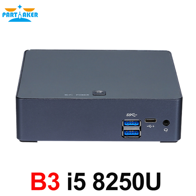 8 세대 인텔 코어 i5 8250U 쿼드 코어 8 스레드 Nuc 미니 PC UHD 그래픽 620 DDR4 5G AC Wifi 4K HTPC Win 10 Partaker