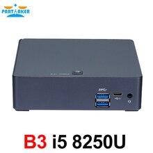 8th Gen Intel Core i5 8250U Quad Core 8 Threads Nuc Mini PC UHD Grafiken 620 DDR4 5G AC wifi 4K HTPC Win 10 Teilhaftig