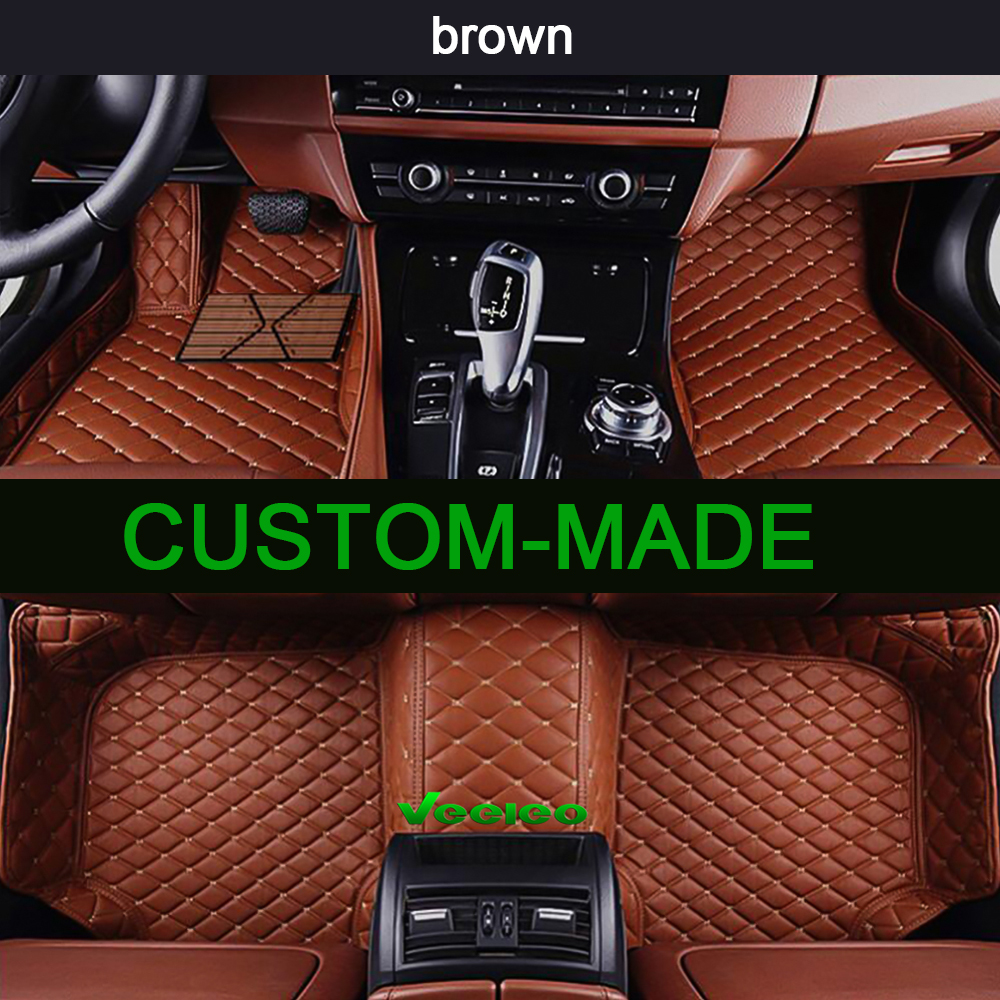 Veeleo 6 Colors Leather Car Mats For Acura CDX 2016 2018