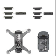 MASiKEN 4pcs Dust Plugs Silicone Protector Cover For DJI SPARK Drone frame and Battery Charging Port