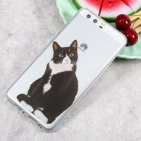Dulcii For Huawei P10 Plus Case Ultra Thin Pattern Printing TPU Mobile Phone Case for Huawei P10 Plus - Confused Cat