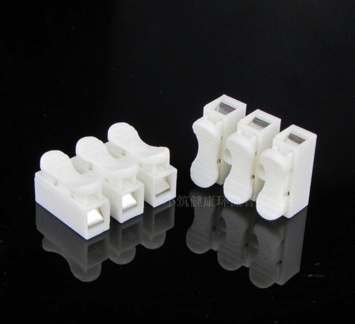 50x 3p Spring Connector wire with no welding no screws Quick Connector cable clamp Terminal Block 3 Way Easy Fit for led strip