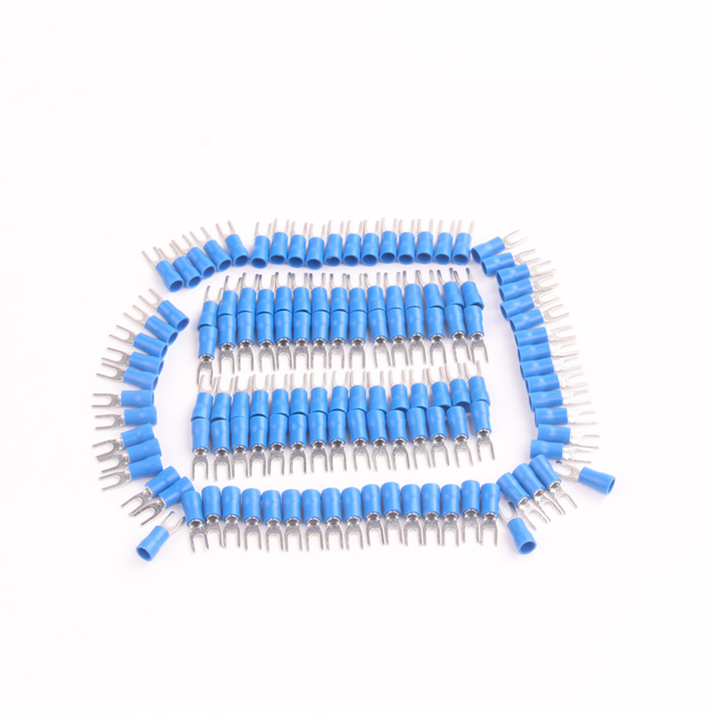 200pcs x Crimp connectors Vinyl SV2 3.2mm GAUGE 16 14 Blue ...