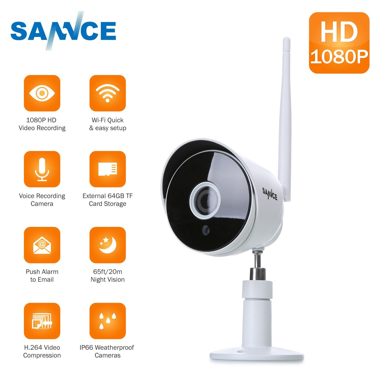 SANNCE HD 1080 p Sans Fil IP Caméra Wifi Surveillance Camara Extérieure Étanche de Vision Nocturne Onvif P2P Home Security CCTV Caméra
