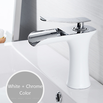 Basin Faucets Waterfall Bathroom Faucet Single handle Basin Mixer Tap Bath Antique Faucet Brass Sink Water Crane Silver 6009 12