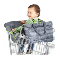 baby cushion Quilting with Color Dark Gray Baby Children Supermarket Shopping Cart Protective Cushion Safe Travel