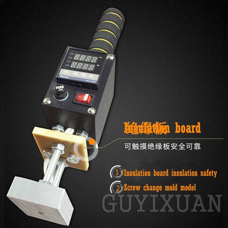 GUYX 500W przenośna maszyna do tłoczenia na gorąco skórzana maszyna do tłoczenia na gorąco drewno znak towarowy/IPPC/marka regulowana temperatura