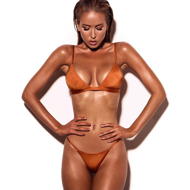 Classic Two Piece Triangle Brazilian Bikini  1