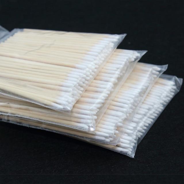 100 قطعة خشبية أعواد قطنية مستحضرات تجميل دائم الصحة الطبية الأذن مجوهرات 7 سنتيمتر العصي نظيفة براعم تلميح