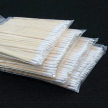 100pcs Wooden Cotton Swab Cosmetics Permanent Makeup Health Medical Ear Jewelry 7cm Clean Sticks Buds Tip(China)