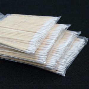 Image 1 - 100pcs Wooden Cotton Swab Cosmetics Permanent Makeup Health Medical Ear Jewelry 7cm Clean Sticks Buds Tip