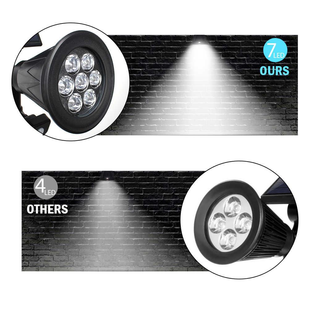 T-SUNRISE 7 светодиодные фонари на солнечных батареях движения PIR Сенсор отражатель Уличный настенный светильник 120 градусов Регулируемый IP65 лампа украшение двора, сада